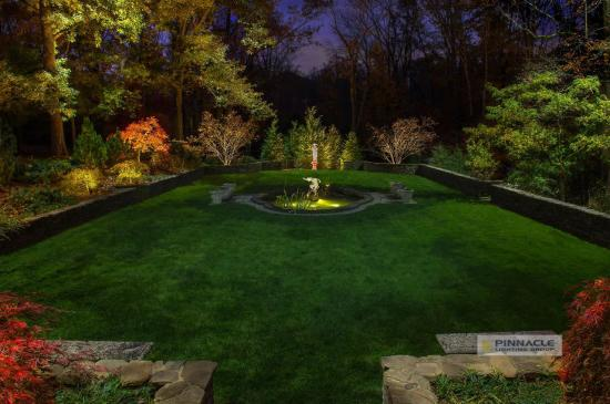 Beautiful Lawn with Lighting